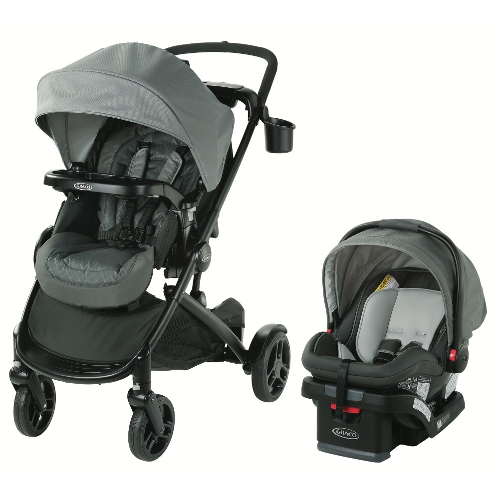 Image of Graco Modes2Grow Travel System - Lotte, Black