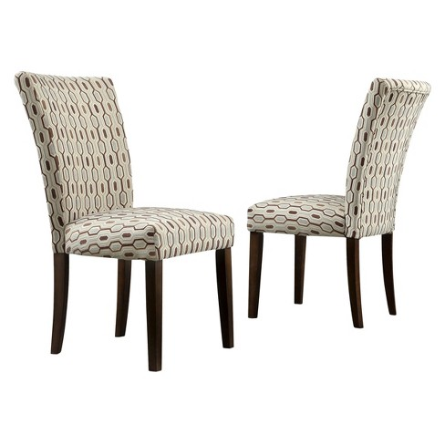 Quinby Parson Dining Chair Wood/Mocha Hex (Set of 2) - Inspire Q - image 1 of 5