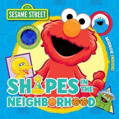 Sesame Street: Shapes in the Neighborhood - (Cloth Flaps)by Autumn B Heath (Board Book)