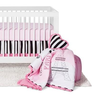 Sweet Jojo Designs Paris 11pc Crib Bedding Set - Pink