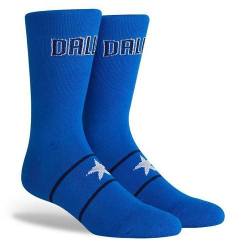 NBA Dallas Mavericks Uniform Youth Crew Socks - M - image 1 of 2