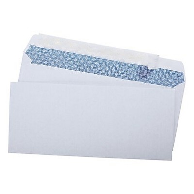 """MyOfficeInnovations EasyClose Security Tint #10 Envelope 4-1/8"""" x 9-1/2"""" White 500/BX 787385"""