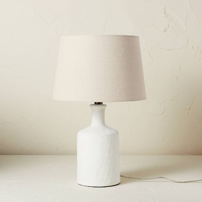 Matte Ceramic Table Lamp White (Includes LED Light Bulb) - Opalhouse™ designed with Jungalow™