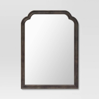 """30"""" x 42"""" French Country Wall Mirror Distressed Black - Threshold™"""