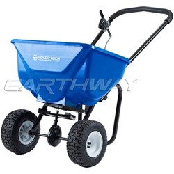 Earthway Polar Tech 50-Pound Hopper Ice and Snow Melt Broadcast Spreader, Blue