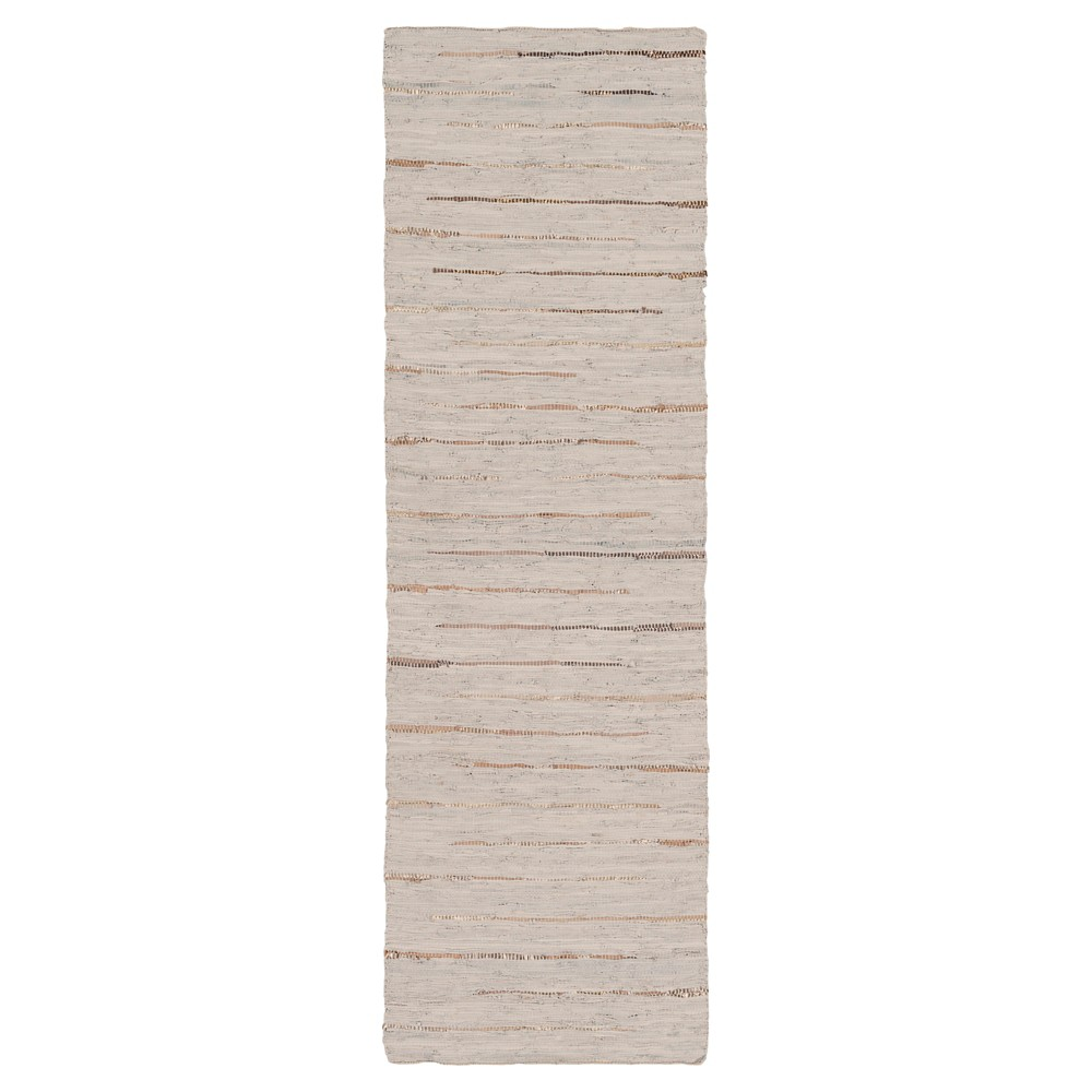 Light Gray Solid Woven Runner - (2'6X8' Runner) - Surya