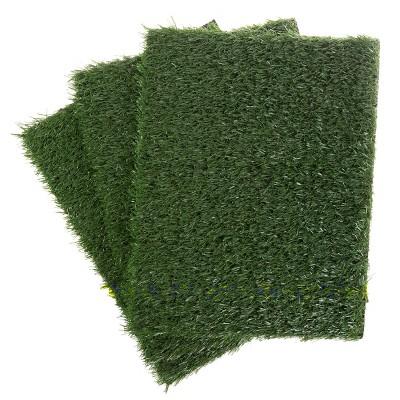 """Pet Pal Artificial Grass Replacement Mats - 18.5"""" x 14"""", Green, 3-Pack"""