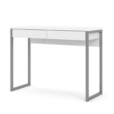 Aurora 2 Drawer Computer Desk in White-Tvilum