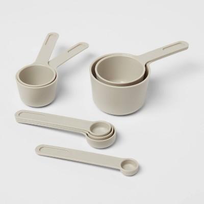 8pc Plastic Measuring Cup Set Gray - Room Essentials™