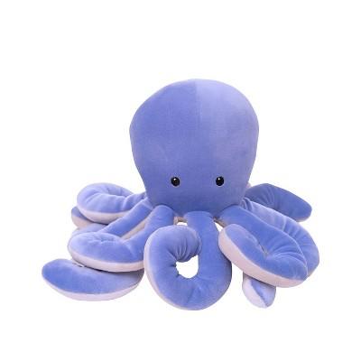 """Manhattan Toy Sourpuss Octopus Velveteen Sea Life Toy Stuffed Animal, 13"""""""