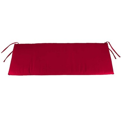 """Plow & Hearth - Polyester Classic Outdoor Swing / Bench Cushion, 41""""x 20""""x 3"""", Barn Red"""