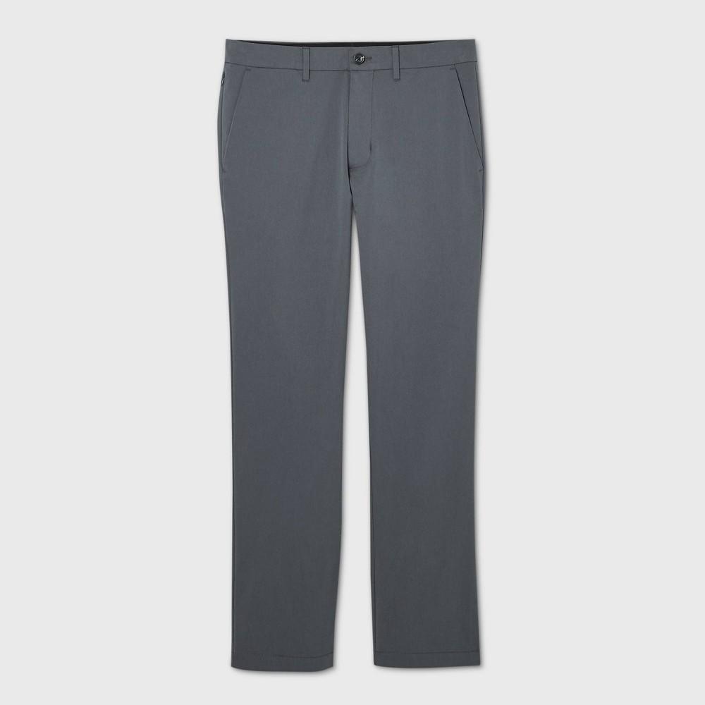 Men 39 S Slim Straight Fit Hennepin Tech Chino Pants Goodfellow 38 Co 8482 Gray 28x32