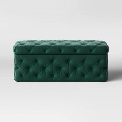 Boonsborough Allover Tufted Bench Velvet Green - Threshold™