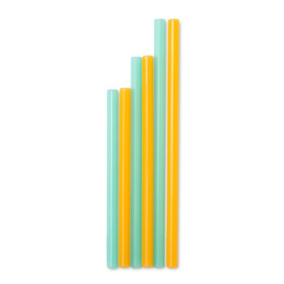 Silikids Reusable Silicone Straws - 6pk