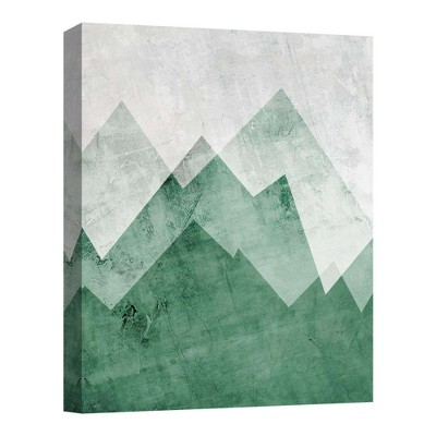 """11"""" x 14"""" Green Mountains Decorative Wall Art - PTM Images"""