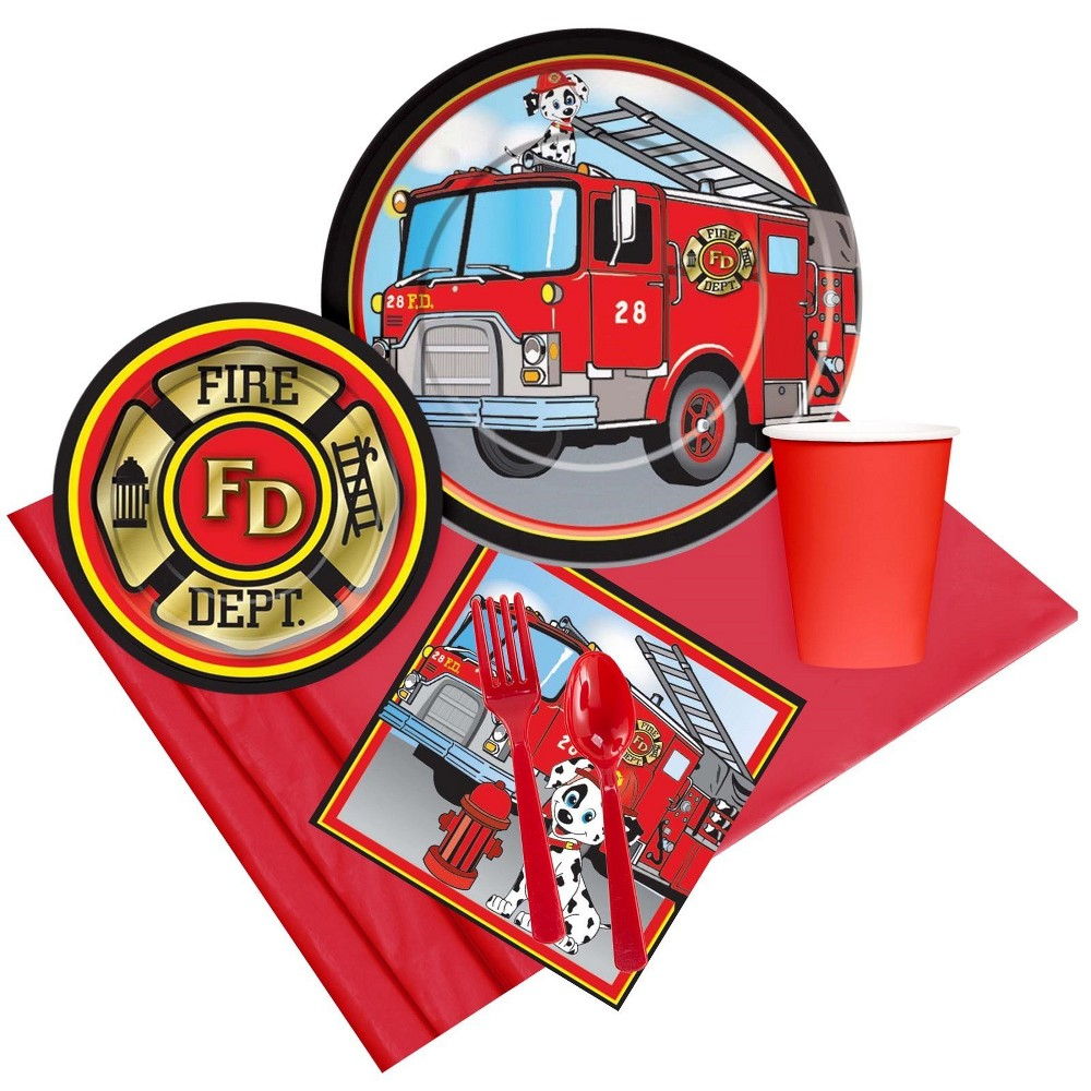 8ct Firefighter Party Pack, Multi-Colored