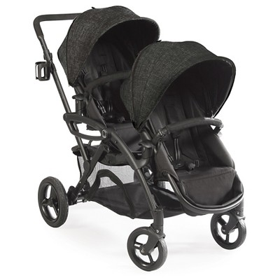Contours Options Elite Tandem Double Stroller - Carbon