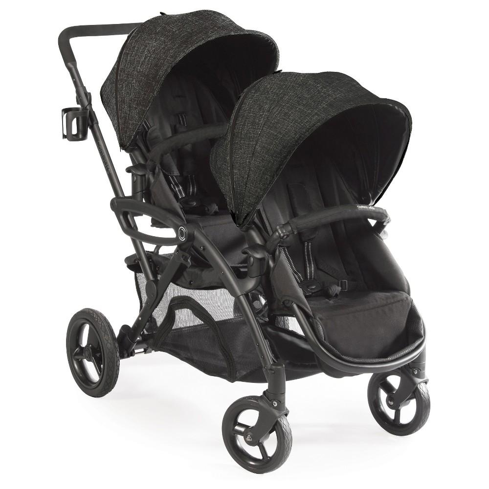 Image of Contours Options Elite Tandem Double Stroller - Carbon, Black