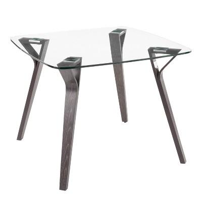 Folia Mid-Century Modern Dining Table Dark Gray - LumiSource