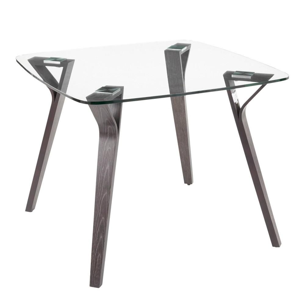 Folia Mid Century Modern Extendable Dining Table Dark Gray Lumisource