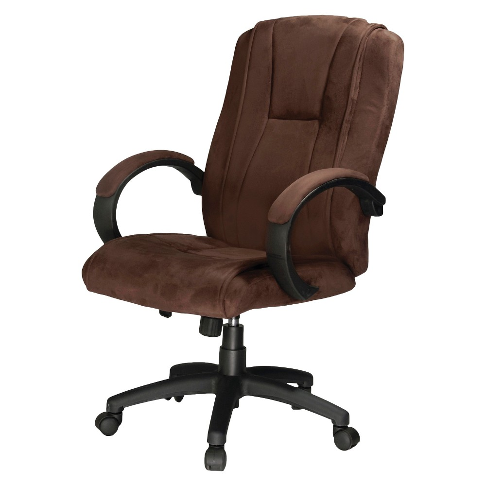 Padded Microfiber Fabric Executive Chair - Comfort Products, Dark Brown