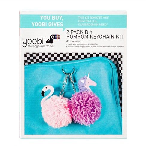 Pom Pom Character Keychains Activity Kit - Yoobi™ - image 1 of 3
