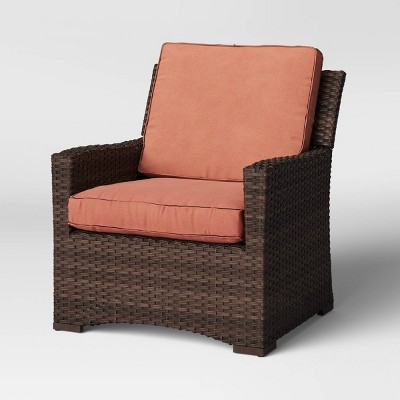Halsted Wicker Patio Club Chair - Melon - Threshold™