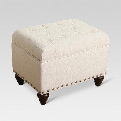 Danbury Tufted Storage Ottoman with Nailheads - Threshold™