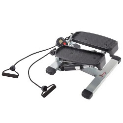 Sunny Health and Fitness (NO. 045) Twisting Stair Stepper with Bands