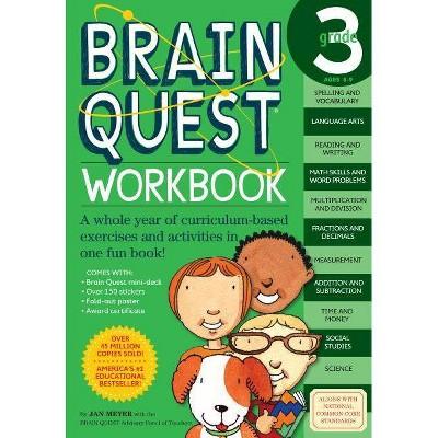 Brain Quest Workbook Grade 3 (Brain Quest) (Paperback) by Jan Meyer