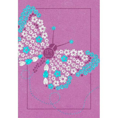 The Passion Translation New Testament (2020 Edition) Youth Girls Butterfly - by  Brian Simmons (Leather Bound)