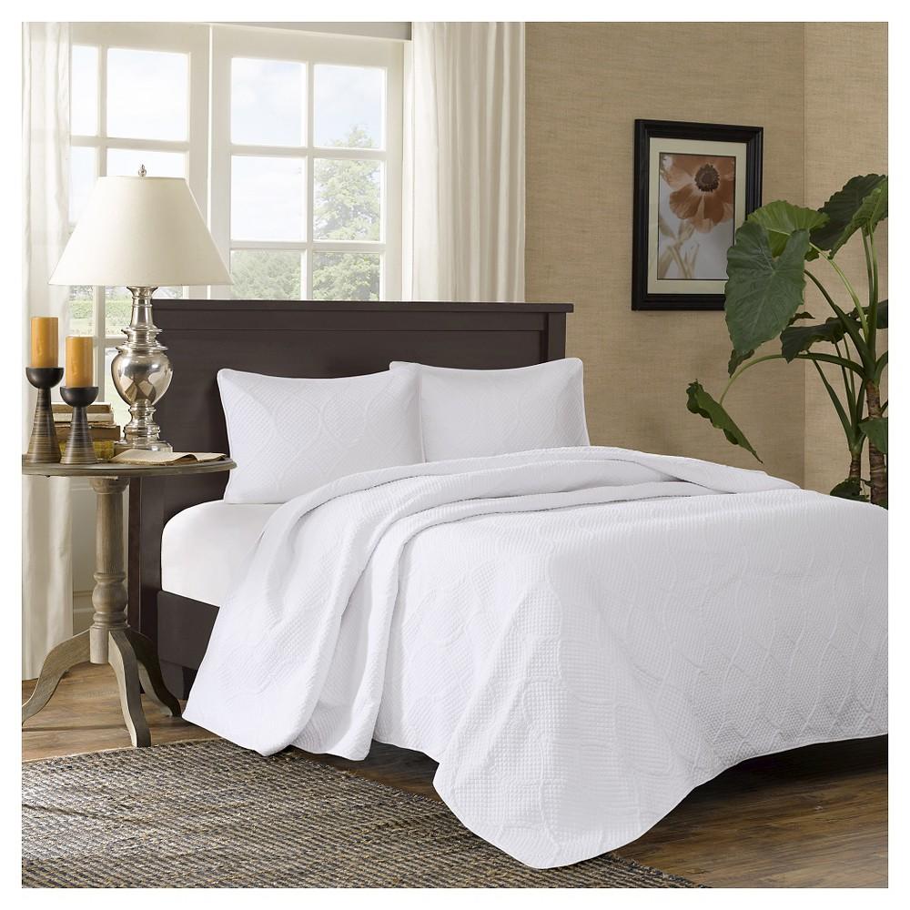 Buy Margaux Bedspread Set (King) White - 3pc