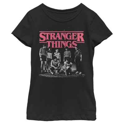 Girl's Stranger Things Title Logo Faded T-Shirt