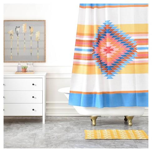Bianca Green Fiesta Shower Curtain Blue