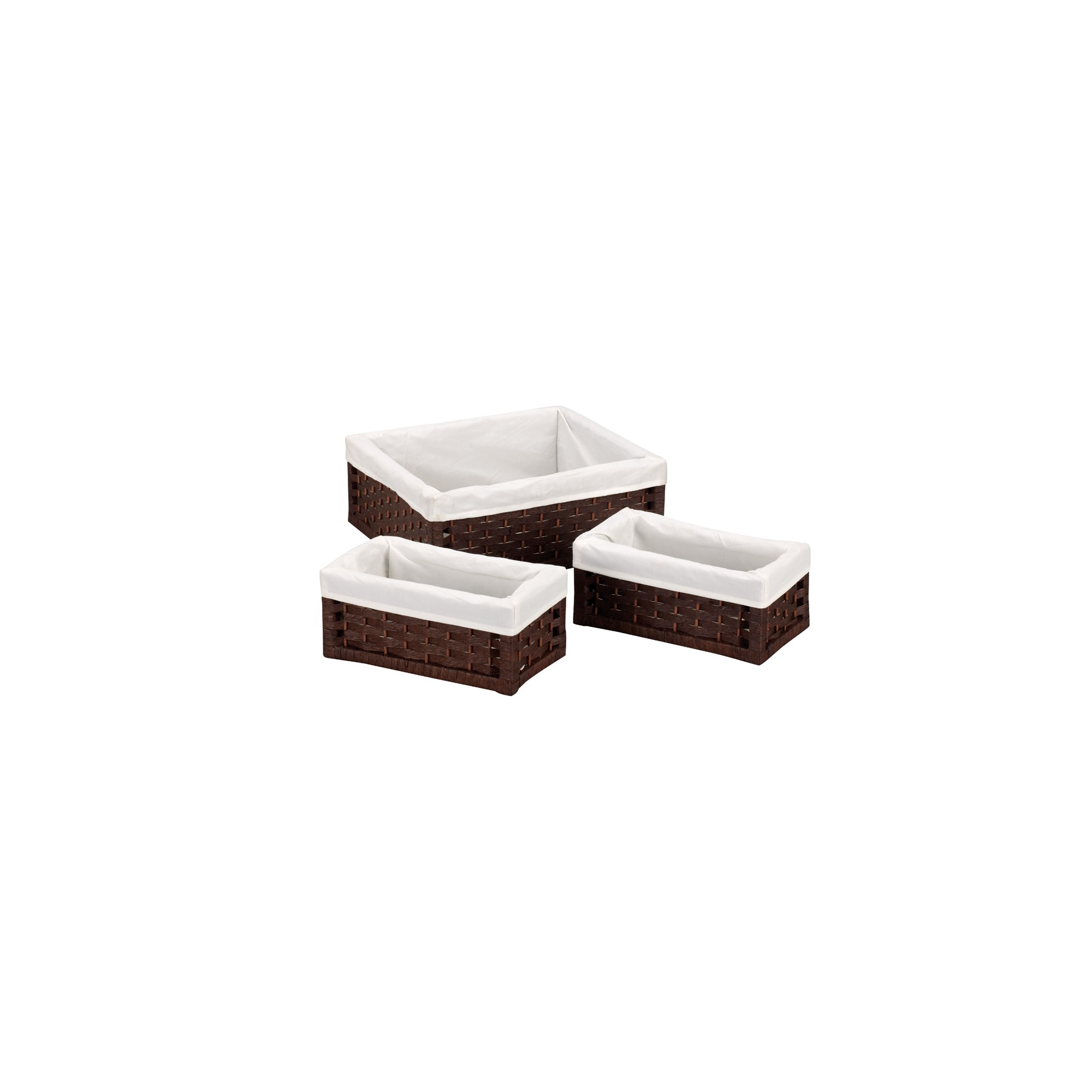 Household Essentials Set of 3 Large Stained Utility Baskets