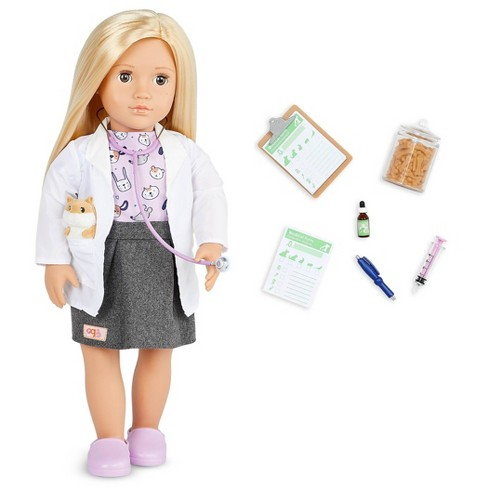 """Our Generation Noemie with Plush Hamster 18"""" Pet Care Vet Doll - image 1 of 4"""