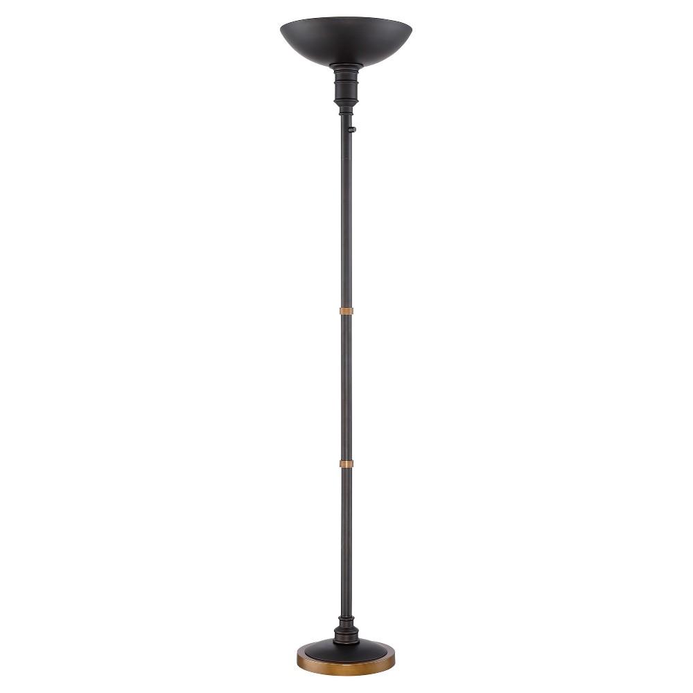 Malibu Led Torchiere Floor Lamp Dark Bronze (Includes Energy Efficient Light Bulb) - Lite Source
