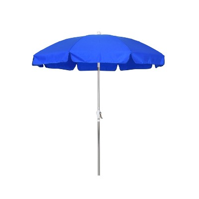 Perfect Round Crank Patio Umbrella   Blue 7.5u0027