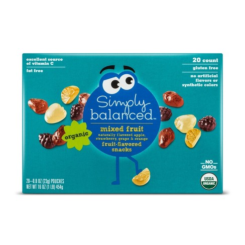 Mixed Fruit Flavored Snacks - 20ct - Simply Balanced™ - image 1 of 1