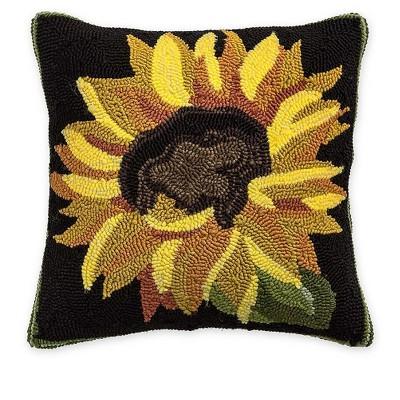 Plow & Hearth - Indoor / Outdoor Sunflower Throw Pillow