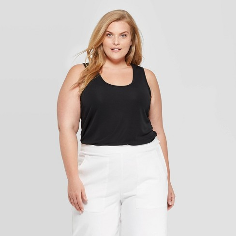 ee6f4af389c Women s Plus Size Sleeveless Scoop Neck Tank Top - Prologue™ Black   Target