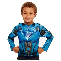 Power Rangers Blue Deluxe Ranger Dress Up Set with Light Up Chest Armor, Kids Unisex