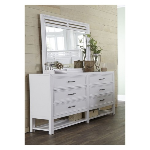 Serenade Dresser & Mirror Tuxedo White - Progressive Furniture - image 1 of 2