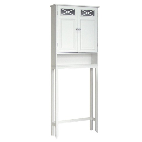 Dawson Over Toilet Space Saver tagère White - Elegant Home Fashions - image 1 of 4