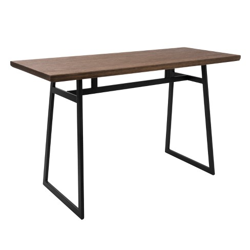 Geo Industrial Counter Table Black/Brown - LumiSource - image 1 of 6