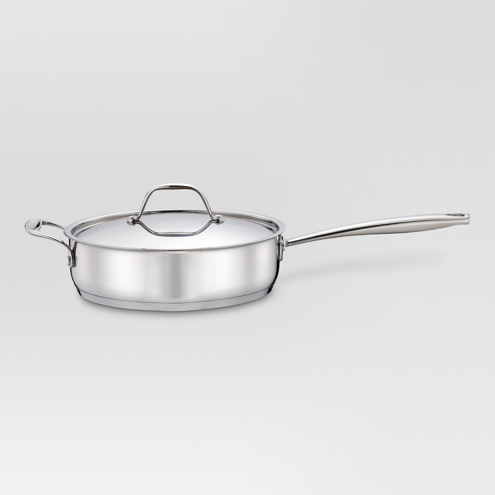 3 qt Stainless Steel (Silver) Saute Pan - Threshold