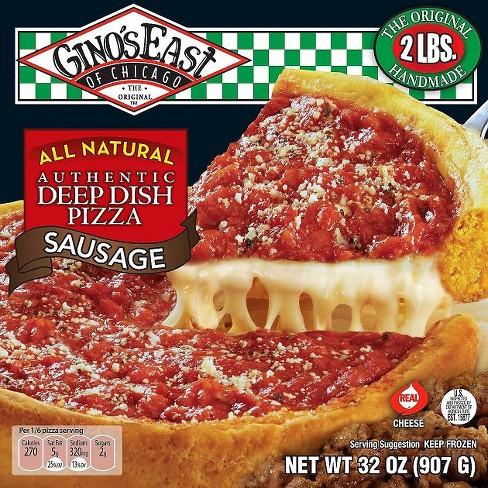 Ginos East Deep Dish Sausage Frozen Pizza 32oz Target