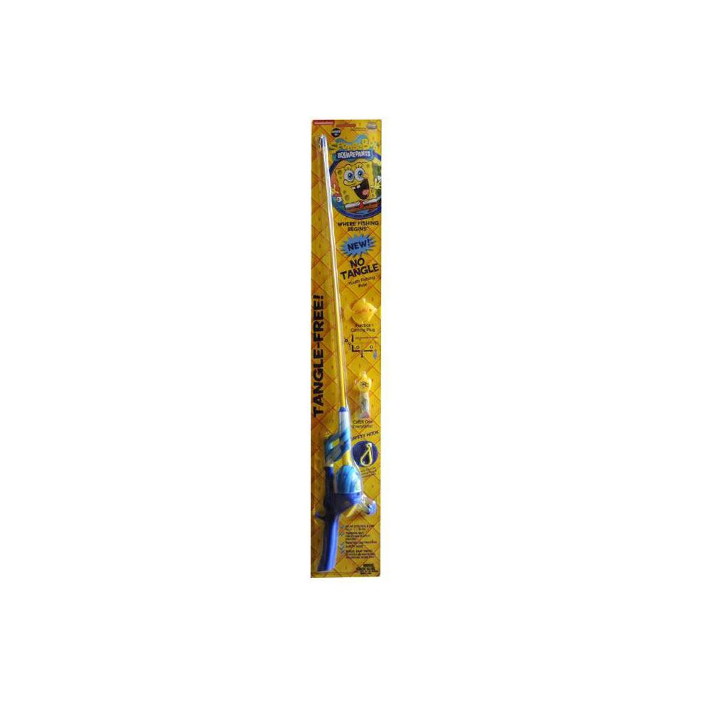 Image of Kid Casters SpongeBob SquarePants No Tangle Fishing Rod - Yellow