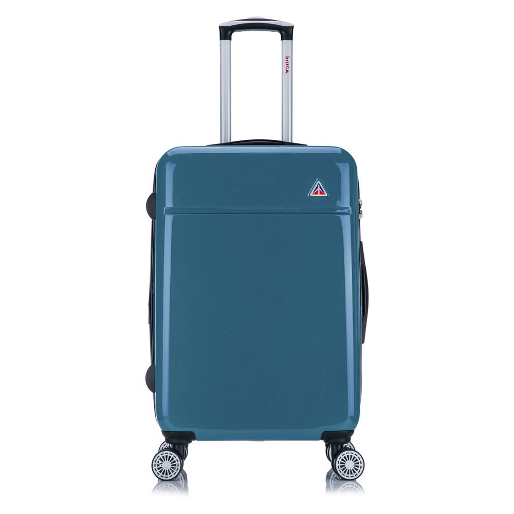 "Image of ""InUSA Avila 24"""" Hardside Spinner Suitcase - Navy Blue, Blue Blue"""