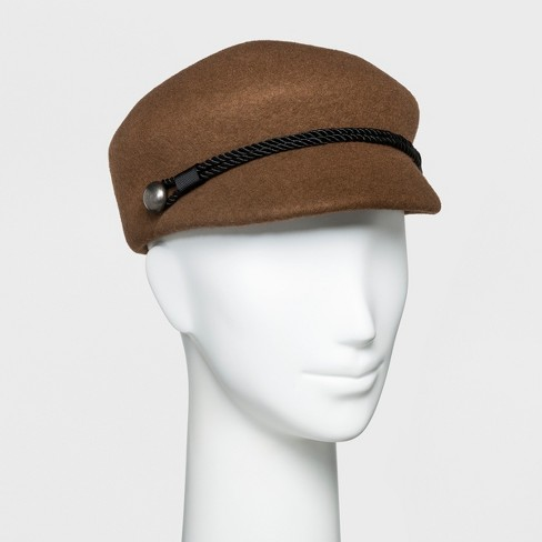 825d8c2f18cef2 Women's Cord Trim Newsboy Hat - A New Day™ Brown : Target
